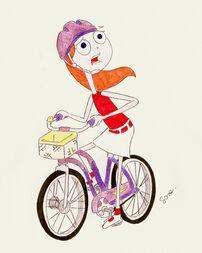 Fretka na rowerze