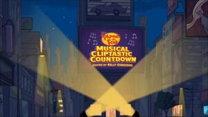 Phineas and Ferb Musical Cliptastic Countdown Hosted by Kelly Osbourne title card
