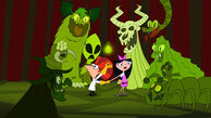 Phineas and Isabella in the haunted house