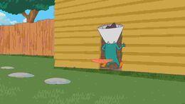 Pepe próbuje dostać się do kryjówki wejściem z tyłu domu