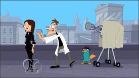 Doof, Vanessa and Perry in -A Real Boy-