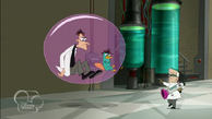 Doof and Perry inside a Particle Bubble Trap