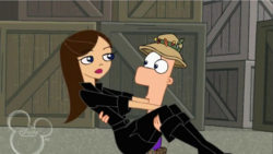 Ferb catches Vanessa