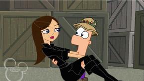 Ferb catches Vanessa