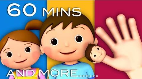 Finger Family & More Nursery Rhymes! 1 hour! 33 Videos! 3D Animation in HD from LittleBabyBum