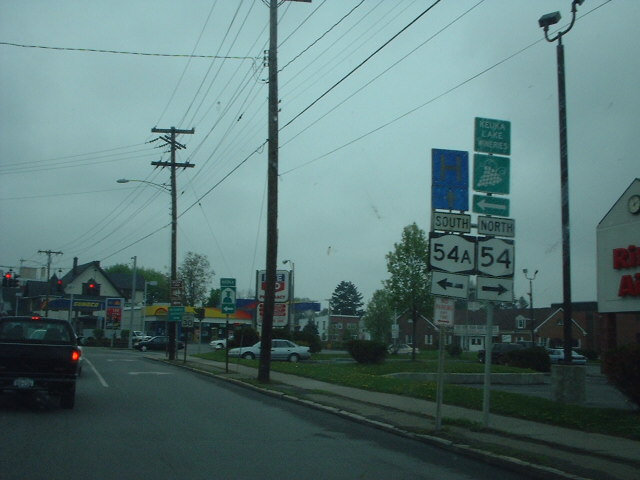 File:New york state route 14a intersection crossing 54a in penn yan.jpg