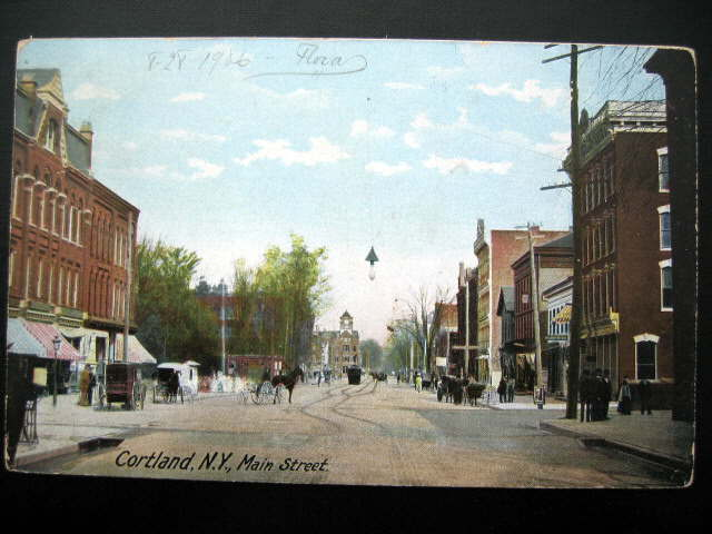 File:Postcard of Cortland, New York Main St 1906.jpg