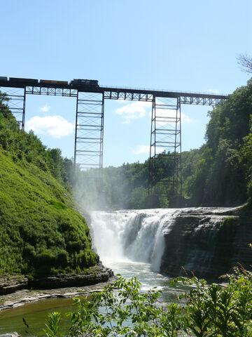File:Letchworth State Park New York Upper Falls Train Bridge Portage Viaduct.jpg