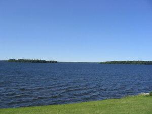 Oneida Lake, New York from Cicero Yacht Club;