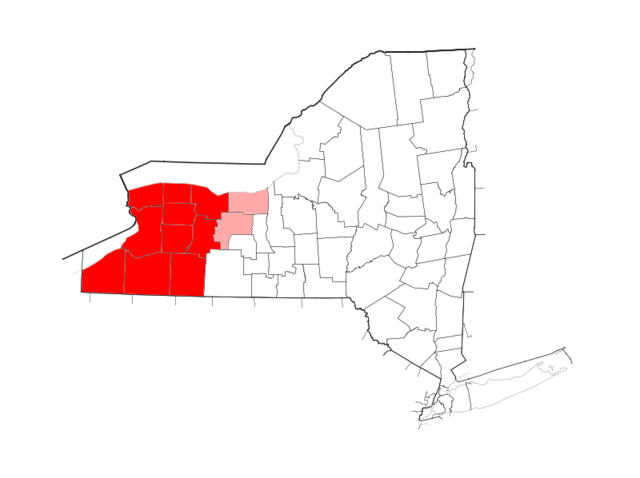 File:Western New York counties highlighted in red.png