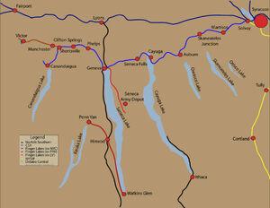 Finger Lakes Railway map