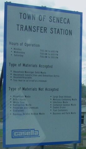 File:Town of Seneca Transfer Station dump hours accepted materials sign.JPG