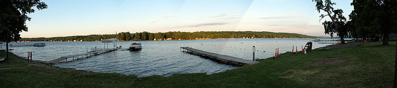 Conesus Lake from Geneseo, New York Panorama