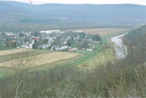 PAnoramic view of the tioga river in pennsylvania
