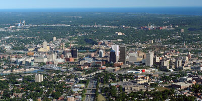 Rochester, New York, aerial view August, 2007