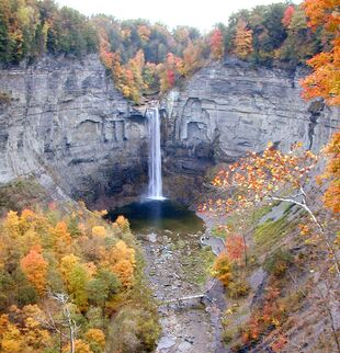 Taughannock Falls State Park, New York in Autumn
