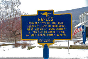 Naples, New York founded sign