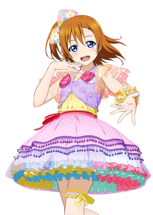 445 kousaka honoka love live card sr render by azizkeybackspace-d8hq82p