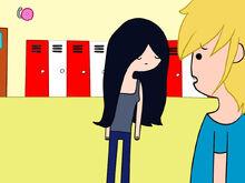 Finn bumbs into human Marceline accidentally S2E24