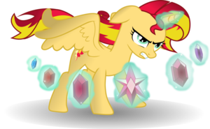 Alicorn sunset shimmer with elements by theshadowstone-d6zibh0