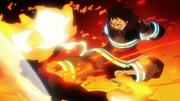 Shinra kicks female Infernal