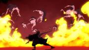 Benimaru using Fire Moon