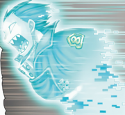 Shinra travelling at super high speed