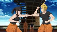 Maki and Arthur training