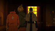 Karim finds Shinra and Arthur in his room