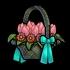 Fleurs émeraude