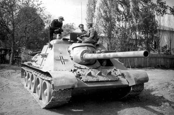 SU-100 Beute