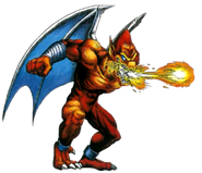 Demon27s Crest - Firebrand spitting out a fireball