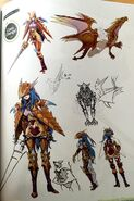 TMS concept art of Caeda as a Draco Knight class