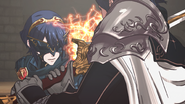 Lucina fighting Chrom 1