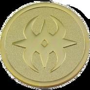 Cara de la moneda promocional con el símbolo de Nohr