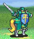 Sain as a Paladin with a sword