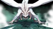Ilustración de Rhea transformándose en la Furia Blanca - Fire Emblem Three Houses