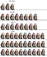 Midoriko Hair Colors
