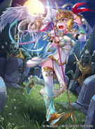 Emma as a Pegasus Knight in Fire Emblem 0 (Cipher)