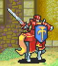 Alen as a Paladin holding a Sword