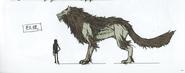 FE3H Concept Art Giant Wolf