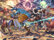 Marth and Male Kris R by Daisuke Izuka