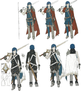 Chrom concept art sheet