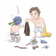 Ike and Greil sketch Daisuke Izuka Aug2017