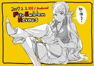 Ilustración especial de Sharenna de Yusuke Kozaki