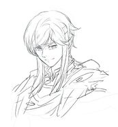 Seliph sketch by Rika Suzuki
