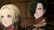FE3H Screenshot Hubert & Edelgard