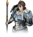 Artwork parcial Frederick - Fire Emblem Warriors