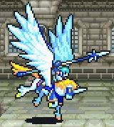 Thite's static battle pose as a Falcoknight