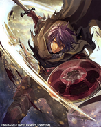 Deen as a Myrmidon in Fire Emblem 0 (Cipher)